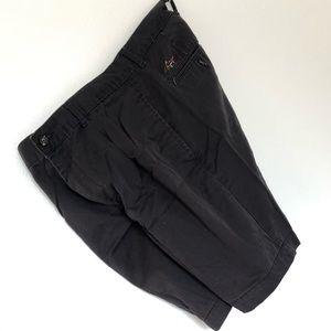 "Black Flat Front Greg Norman Golf Shorts Size 32"""
